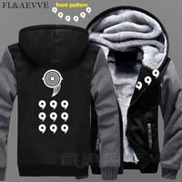 anime jaqueta jaqueta venda por atacado-FLAEVVE New Uzumaki Naruto Hoodie Anime Uchiha Sasuke Brasão Jacket Inverno Homens Thick Zipper Ootutuki Hagoromo camisola