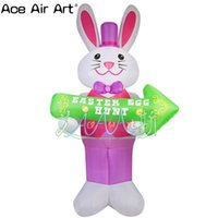 Wholesale advertising inflatables for sale resale online - 3m tall lighting easter inflatable decoration with a easter egg advertising for sale