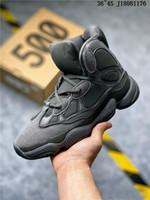 kanye west black оптовых-Новая Kanye West 500 High Slate Кость обувь Белый камень 500 Desert Rat Черный Женщины Мужчины Спорт High Top Basketball
