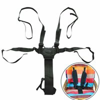 Wholesale tricycle strollers resale online - Five Point Baby Safety Belt Fixed Seat Harness Belt Stroller Accessories Children High Chair Protection Baby Tricycle Straps