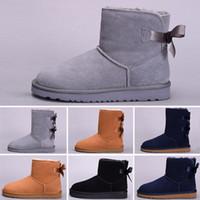 bota moda crianças venda por atacado-UGG boots 2020 crianças botas crianças Austrália clássicos Ug botas sapatos de neve de qualidade superior moda inverno menina menino Manter tamanho quente tornozelo 22-35