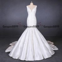 Wholesale crystal winter wedding resale online - 2020 vintage fall African Mermaid Wedding Dresses lace Beaded sweep Train Custom made Plus Size stain Formal Bridal Gowns