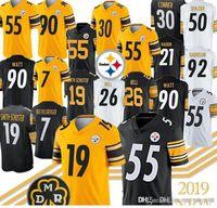ben jerseys achat en gros de-Jersey Steelers de Pittsburgh 55 Devin Bush 19 Juju Smith-Schuster 7 Ben Roethlisberger 90 T.J. Watt j30 James Connererseys Qualité supérieure
