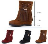 botas estilo puntera estilo británico al por mayor-Venta al por mayor botas de mujer de gran tamaño para hombre 2019 otoño e invierno nueva moda de ante estilo británico botas de punta puntiaguda