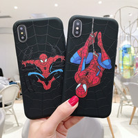 Wholesale iphone xr marvel case online – custom Marvel Spider Man soft case for iphone pro x xs max xr s plus matte silicone phone cover coque