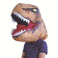 herren karneval kostüme großhandel-Erwachsene Tyrannosaurus Rex Kostüm Party Style Halloween Karneval Kapuze Aufblasbare Festival Herren Spiel Kostüm Bekleidung