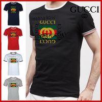 ingrosso maniche corte-T-shirt da uomo estate 2019 T-shirt da uomo ricamata con reggiseno da uomo Designer G8GUCCI