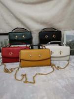 Wholesale men bag online - 219 new luxury designer handbag high quality women Messenger bag fashion men handbag genuine leather chain bag