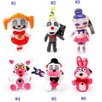 juguete bonnie felpa al por mayor-7 estilos de dibujos animados Five Nights at Freddy's peluches Bonnie / Foxy / Freddy FNAF Peluches 20cm / 8 pulgadas MMA2328