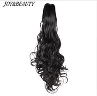 Wholesale curly hair clip pony tails for sale - Group buy 22 quot Women Synthetic Claw on Ponytail Clip in Pony Tail Hair Extension Curly Style Hairpiece ponytail hair extension