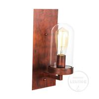 nordic wandleuchte großhandel-Nordic Moderne LED Wandleuchte Glaskugel Badezimmerspiegel Außen American Retro Wandleuchte Wandlampe Aplique Murale
