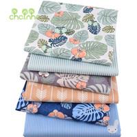 fabric großhandel-Chainho, 6 teile / los, Monstera, Twill Baumwollgewebe, Patchwork Tuch, DIY SewingQuilting Fat Quarters Material Für BabyChild