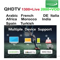 ingrosso qhd tv-1 anno QHDTV abbonamento per l'arabo flusso inglese codice live tv francese per il lettore Smart Media M3U MAG 254 programmi TV France QHD
