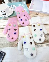 добрые перчатки оптовых-20190901 Новый вид медвежонка, кролика, утки, ленты-бабочки и утолщенных перчаток с пальцами