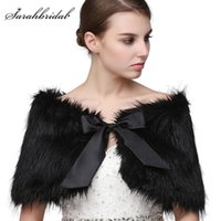 Wholesale bolero white fur capes resale online - 2019 Cheap Winter New Arrival Fur Jacket Wrap Shrug Bolero Coat Wrap Shawl Cape Bridal Wedding Shawl Bridal Wedding Accessories Hot