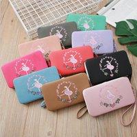 Wholesale 2019 long luxury brand designer women wallet clutch Lady purse Beauty embroidery Wallet