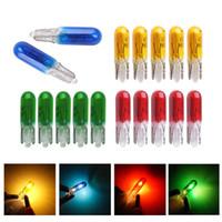 Wholesale car button light for sale - Group buy 50PCS LED Light Car Instrument Bulb T5 V1 W Central Control Indicator Light Button Halogen Lamp Car Signal