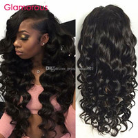 Wholesale Glamorous Virgin Brazilian Human Hair Full Lace Wig quot quot quot Best Quality A Full Lace Human Hair Wigs with baby hair