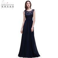 blaues umwandelbares kleid großhandel-Robe Demoiselle D'honneur Real Photo Marineblau Cabrio Brautjungfernkleider Lange Vestido Madrinha Casamento