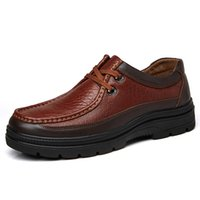 Wholesale nice handmade dress for sale - Group buy Handmade Quality Classic Men Genuine Leather Shoes Business Men Oxfords Shoes Soothing Sole Flats Dress Nice New