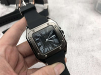 dünne männliche uhren großhandel-Mens luxusuhren marke ultradünne mode quadrat uhr Für männer Silikon Band Quarz Armbanduhren Uhr männlichen Valentinstag Geschenk 2019