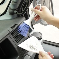 Wholesale car clean brush duster resale online - Car Cleaning Brush Car Washer Microfiber for Air condition Cleaner Computer Clean Tools Blinds Duster Auto Cleaning Accessories