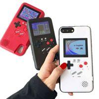 cajas de teléfono para niños al por mayor-Mini pantalla portátil de color 36 Classic Game Phone Case para iPhone X XS XS Max XR 6 7 8 Plus consola Game Boy Soft TPU cubierta de silicona