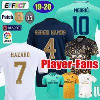 james soccer al por mayor-2019 Real Madrid HAZARD camisetas de fútbol EA SPORTS JERSEYS 18 19 20 Local Visitante MODRIC MARCELO 2020 Mariano VINICIUS JR KROOS ISCO ASENSIO RAMOS BALE MARCELO Kits Shirts