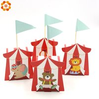 Wholesale circus party decorations for sale - Group buy 10PCS Cartoon Circus Theme Party DIY Candy Box For Kids Birthday Party Baby Shower Decoration Candy Gift Box Supplies