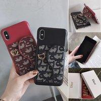 kleinkasten für handytaschen großhandel-Sattel schräge kartensteckplatz halter telefon case für iphone x xs max xr handy abdeckung für iphone8 8 plus 7 7 plus 6 6 s plus + kleinkasten
