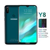 doogee phone оптовых-Doogee Y8 Android 9.0 Сотовый телефон 4g Lte 3gb 16gb 6.1