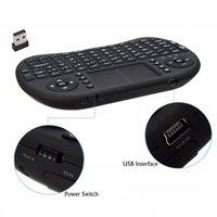ingrosso chiave android tv box-HOT Mini tastiera retroilluminata senza fili BK8 con Touchpad Multimedia Keys Keyset per PC Pad Android / Google TV Box HTPC IPTV PS3