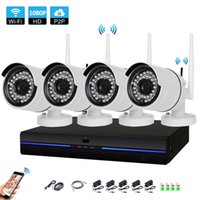 Wholesale system cameras resale online - 4CH HD Wireless P NVR MP IR Outdoor P2P Wifi IP CCTV Security Camera System Surveillance Kit tb HDD