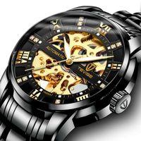 ingrosso orologi di superficie-orologi da polso orologi da uomo di lusso orologi di design Meccanici per orologi completamente automatici Surface Hollow Out Orologio da polso impermeabile NE1031