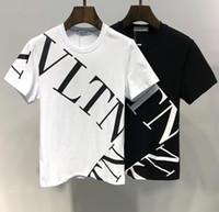 büyük erkekler tee toptan satış-2018 Tasarımcı Marka Lüks Mens Womens T Gömlek Yaz Kısa Kollu Yeni Moda Rahat Mektup Baskılı Hip Hop Büyük Artı Boyutu Tees Tops