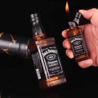 isqueiros a gás venda por atacado-Novidade Fumadores de Cigarros Acessórios Mini isqueiros a gás Criativo sem combustível Forma de garrafa de vinho tinto Fire Starter Coleção Presentes para o amigo