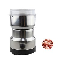 Wholesale herb grinding tools resale online - BEIJAMEI Small Herbs Coffee Bean Mill Blade Grinder Electric Household Spices Nuts Grinding Machine Tool