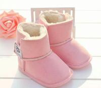 corazón bebé zapatos niño al por mayor-Zapatos de bebé recién nacido Niño Niña Patrón estrella del corazón Los niños primeros caminante niños atan para arriba las zapatillas de deporte de la PU 0-18 Meses