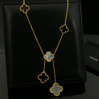 Wholesale natural 14k diamond resale online - 316L Stainless Steel Gold Plated White Agate Black Flower Lover Necklace Gold Fine Natural Red Agate Jewelry Women