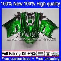 93 zx11 kaplamaları toptan satış-ZZR1100 KAWASAKI ZX11 ZZR 1100 1993 1994 1995 1996 1997 208MY.0 ZZR1100 ZX 11R ZX11R 93 01 ZX11R 93 94 95 96 97 Fairing Yeşil alevler