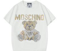 ayı ayıları toptan satış-2019 Lüks Yeni Moda Erkekler Tasarımcı t gömlek Giysi Hip Hop Karikatür Ayı T-shirt Erkek ve Bayan T Gömlek Casual Pamuk O Boyun Tee