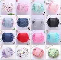 sacos de organizador para viagens venda por atacado-Mulheres com cordão de Viagem Cosmetic Bag Makeup Bag Organizador Faça saco Caso Cosmetic Bolsa de armazenamento de Higiene Pessoal Beleza Kit DLH159