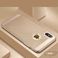 ingrosso casi cassa iphone-Custodia protettiva per PC opaco di alta qualità per iPhone X Xs 6 7 8 Custodia protettiva per iPhone ultra sottile di logo cava nuovo design