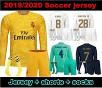 Wholesale 2019 Real Madrid Long sleeves adult Kit Soccer Jerseys men kits HAZARD BALE KROOS Home Away RD Modric Football Shirts