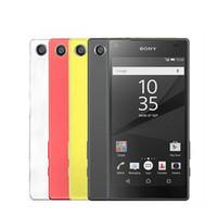 gsm сотовые телефоны двухъядерные оптовых-Оригинальный разблокированный Sony Z5 Compact (mini) E5823 NFC 4.6