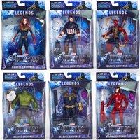 jouets en mouvement achat en gros de-Nouvelle arrivée 10 styles Avengers 4 Figurines Marvel Surprise Captains Thanos poupées Son avec lumière et émouvant Jouets de dessins animés