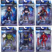 karikatür oyuncakları taşıyor toptan satış-Yeni varış 10 stilleri Avengers 4 Marvel Aksiyon Figürleri Sürpriz Kaptan Thanos bebekler ses ile Işık ve hareketli Karikatür oyuncaklar
