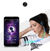 акустические системы оптовых-Bluetooth Музыка стяжкой Вязаные Спящие Headwear наушников Динамик гарнитуры Беспроводные наушники Bluetooth смарт-зима Наушники Hat Wireless W