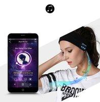 kış kulaklıkları toptan satış-Bluetooth Müzik Kafa Knits Şapkalar Kulaklık Hoparlör Kulaklık Kablosuz Akıllı Kulaklık Bluetooth Kış Kulaklık Şapka Kablosuz W Sleeping