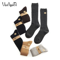 высокое качество шерстяные носки мужчины оптовых-Men's Big size Super thick 80% lambs wool socks high quality classic business  socks men's casual winter 3pairs=1lot